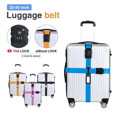 Adjustable Luggage Suitcase Strap Belt Cross Safe Password Secure Coded Lock Tag