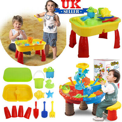 Sand and Water Table Sandpit Indoor/Outdoor Beach Kids Children Play Toy Set UK