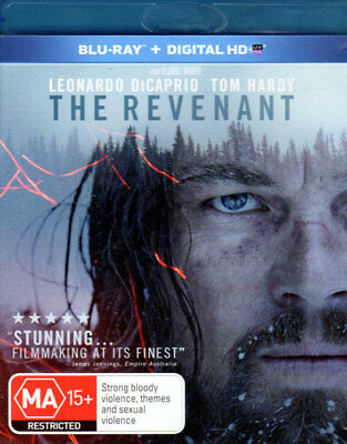 The Revenant - Leonardo DiCaprio, Tom Hardy - Mint Blu-ray