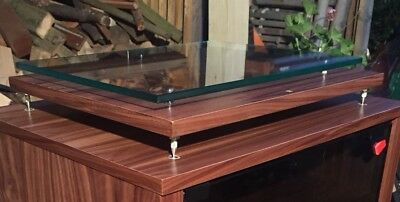 Turntable Isolation Plinth With 10mm Glass Floating Shelf LP12 Project