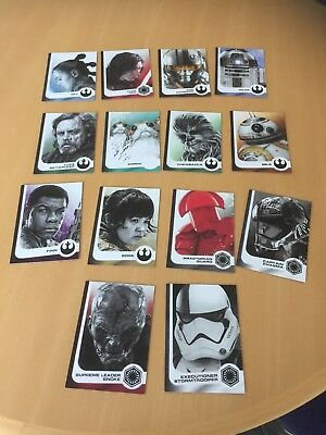 Topps Journey To Star Wars The Last Jedi 14 Card Character (Black) Insert Set