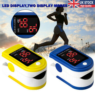 LED Display Pulse Oximeter Fingertip SpO2 Blood Oxygen Monitor Fitness Tracker