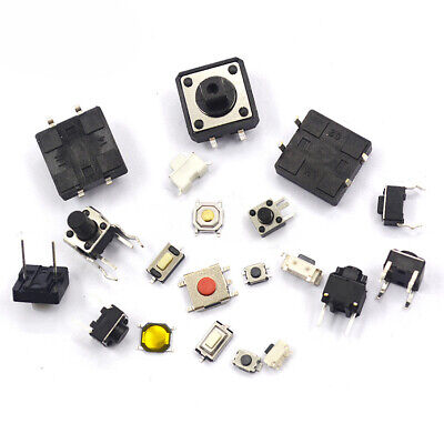 3x6mm 12x12mm etc. Various Sizes Tactile Push Button Switch DIP SMD With Bracket