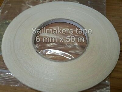 High tack double sided Basting tape for sewing fabrics,art and crafts. 6mmx50 m