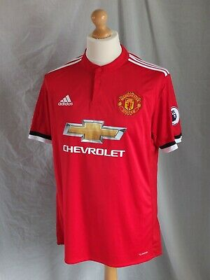 Brand New Genuine Manchester United 2017/18 Home Shirt + Patches - Adults Large