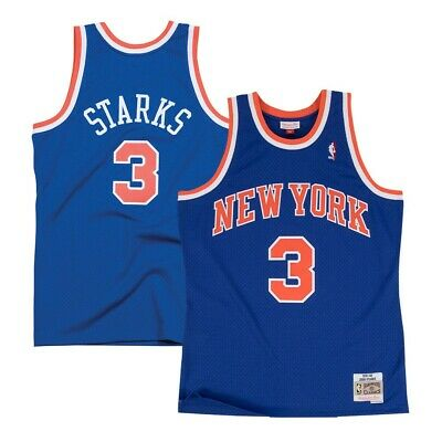 14ac04b7e John Starks New York Knicks 1991-92 Road Blue Mitchell   Ness Swingman  Jersey