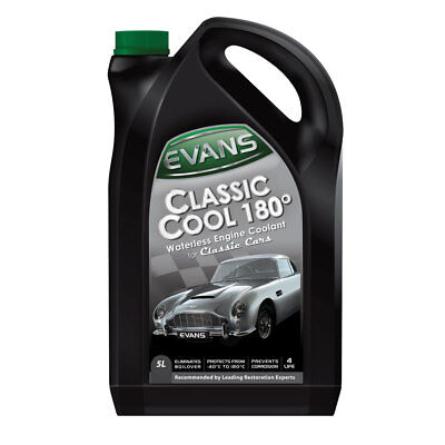 Evans Waterless Engine Coolant Classic Cool 180° Cars Motorcycles (5 Litres)