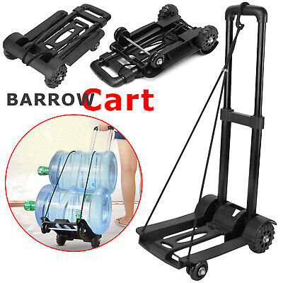 Heavy Duty Steel Sack Hand Truck Foldable luggage Warehouse Cart Trolley 35KG