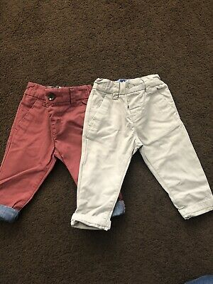 2 Pairs Of Boys NEXT trousers 3-6 Months
