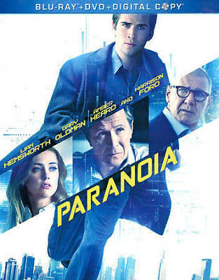 Paranoia (Blu-ray/DVD, 2013, 2-Disc Set) Brand New Factory Sealed