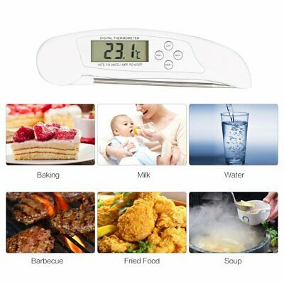 Digital LCD Thermometer Mini Food Temperature Meter Folding Probe Cooking Meat K