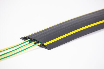 Lightweight Cable Protector Cable Tidy 3-Channels with Yellow Safety Stripes ...