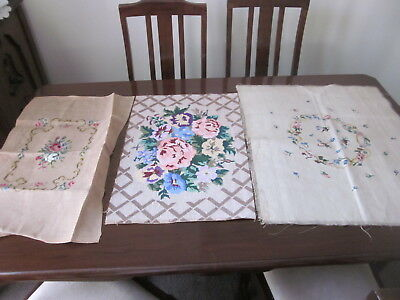 Three Pretty Floral Tapestries ~ Piano Stools Cushions Framing