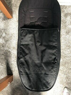 Icandy Peach Black Jet Footmuff Cosy Toes