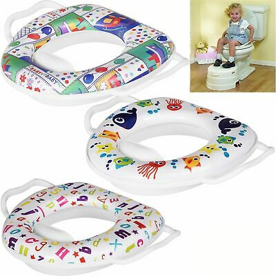 Baby Soft Padded Potty Training Toilet Seat With Handles Padded Soft Kids