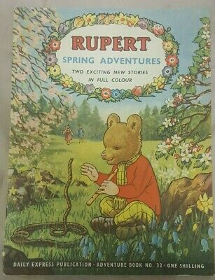 Vintage Daily Express Rupert (The Bear) Spring Adventure Series Comic No. 32