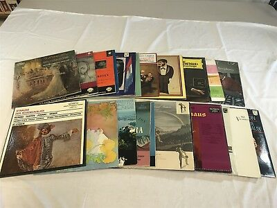 Lot of 24 Vintage CLASSICAL Music LP Vinyl Album Records-Great Titles L7
