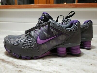 best service 15f1c b5857 Nike + Women s Shox BRS 1000 Running Shoes Sneakers Purple Grey - Shoe Size  5.5