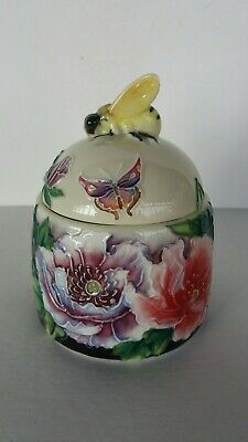 Old Tupton Ware Honey Pot - butterfly/floral pattern