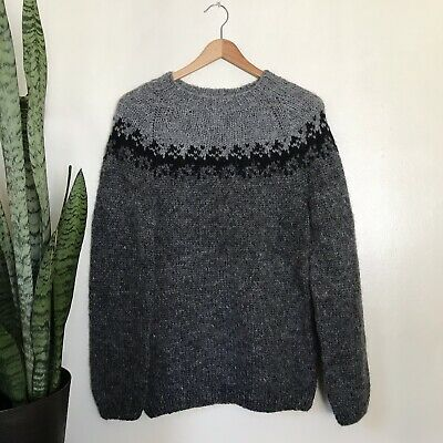 a6bd3f714 ICELAND SWEATER HAND Knitted 100% Pure Wool Womens Size Medium ...