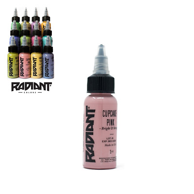 RADIANT TATTOO INK - PASTEL COLOURS - OFFICIAL DISTRIBUTOR - COLORS - 1oz