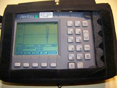 Anritsu S331A Site Master Option 5 soft case, New Battery & Charger Full Test!