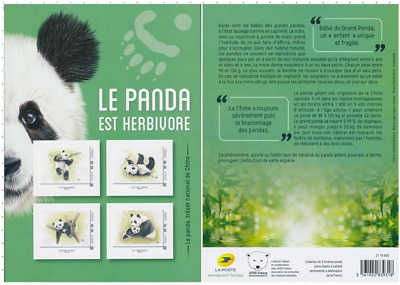 France 2019 Collector - Ours pandas 4v MNH / Neuf