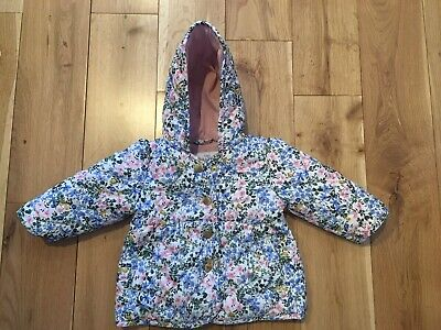 * Marks and Spencers M&S Floral Spring Hooded Coat / Jacket Girls 3-6 Months *