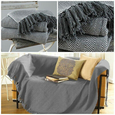 BOHO LARGE TRADITIONAL Blanket Home Chair / Sofa / Bed ...