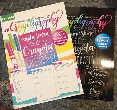 NEW Crayola Beginners Guide to Calligraphy & Hand-Lettering Crayoligraphy Books