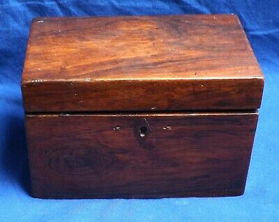 Small Antique Rosewood Tea Caddy