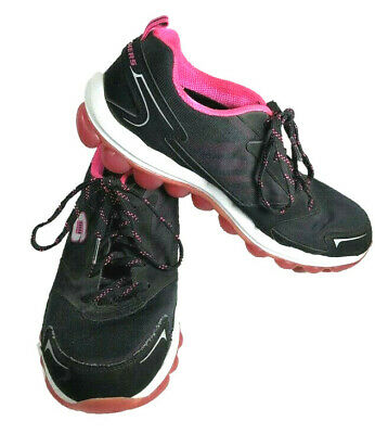 b0b3c5076717 Womens Skechers~Skech Air Athletic Shoes~Black   Hot Pink~Walking Running