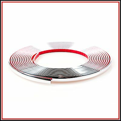 3 meter 6mm Chrome Car Styling Moulding Strip Trim Adhesive in roll