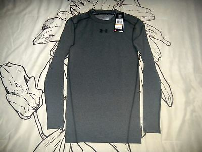 7b555a62b UNDER ARMOUR MEN'S Compression Long Sleeve Grey Shirt, Size S ...