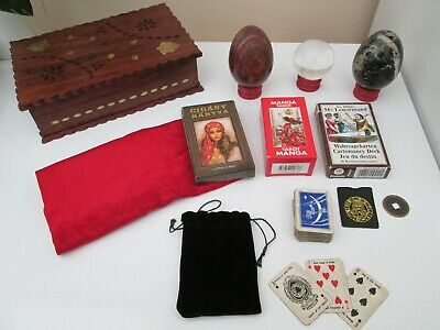 Very Rare: A Complete Gypsy Fortune Tellers kit with 4 Different Card sets.