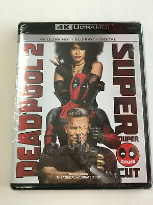 Deadpool 2 Super Cut 4K Ultra HD + Blu-ray + Digital Marvel NEW AND SEALED