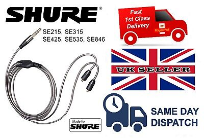 Replacement Audio Mmcx Cable For Shure Se215 Se315 Se425 Se535 - New