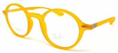 ba67c53954 New Ray Ban LITEFORCE Acetate Round RX Eyeglasses Yellow RB 7069 5519 46 22  145