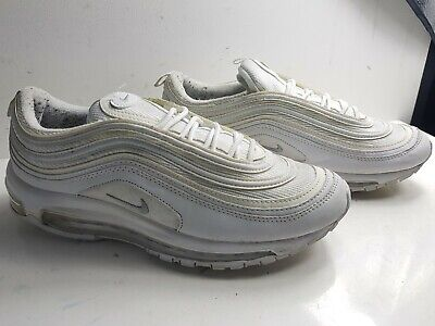 newest 615c0 effd5 Nike Air Max 97 Size Uk 8 Eu 42 Mens White Leather Low Trainers Shoes 921826