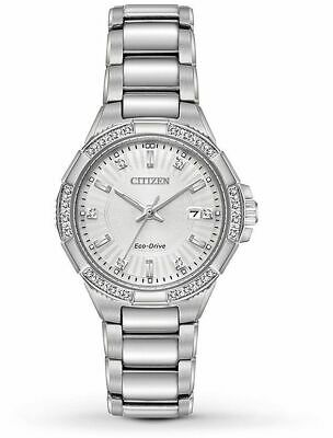 Citizen Eco-Drive EW2460-56A Riva Diamond Silver Dial Women's 30 mm Watch