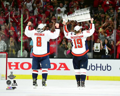 Alex Ovechkin Nicklas Backstrom Washington Capitals 8x10 photo Stanley Cup  Final 8126dded5