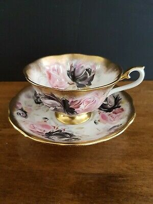 Royal Albert Summer Bounty 'TOURMALINE' Heavy Gold Cup & Saucer Set