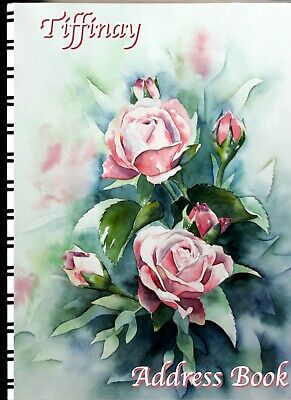 Address Book with Web page Water Color roses