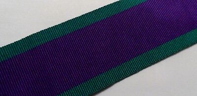 GSM Full Size Medal Ribbon, Army, Various Lengths, General Service, CSM, Ireland