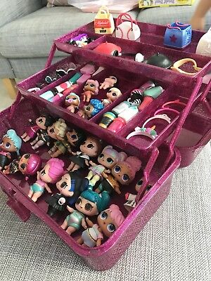 LOL Doll Pink Glitter Storage Box Organiser Carrycase