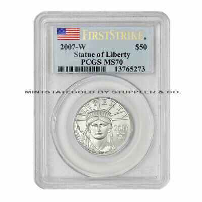 2007-W $50 Platinum Eagle PCGS SP70/MS70 First Strike burnished American coin