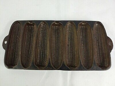 Antique 1920 Cast Iron Wagner Ware Krusty Korn Kobs Cornbread Pan Sidney O