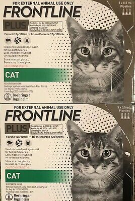 Frontline Plus For Cats, 6 MONTH Supply, New In Box, Fresh Product Exp 1/2021