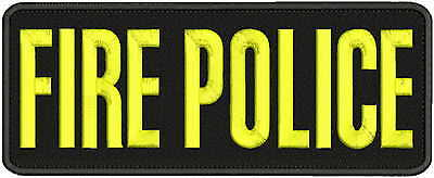 POLICE Embroidery Patch 4x11 hook on back BLK//gray