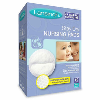 Lansinoh Stay Dry Disposable Nursing Pads 60ct Number One Selling Breastfeeding